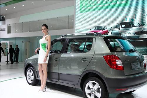2011广州车展斯柯达展台