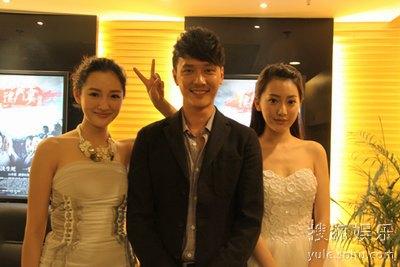 南宫姐妹与项王合影