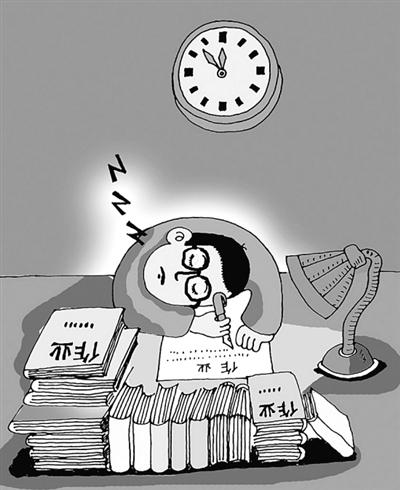 挑灯夜战+何时能歇(组图)