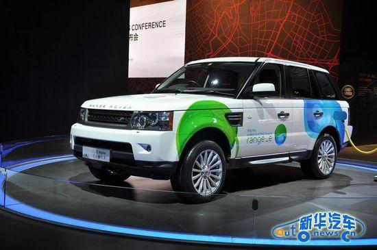 在节能减排的大环境下,路虎在广州车展商推出了首款油电混合动力