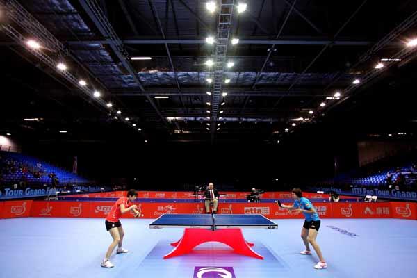 图文:乒联总决赛女单比赛 对阵