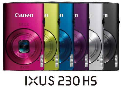 佳能IXUS230 HS拥有6种非常漂亮的颜色