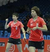 图文:2011国际乒联总决赛 郭跃握拳庆祝