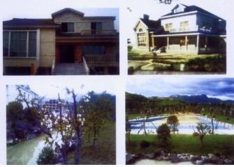 何崇海私家的别墅,花园,游泳池
