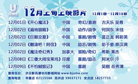 2011年12月上旬网站排片