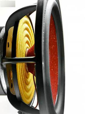 低音单元的框架采用了新设计