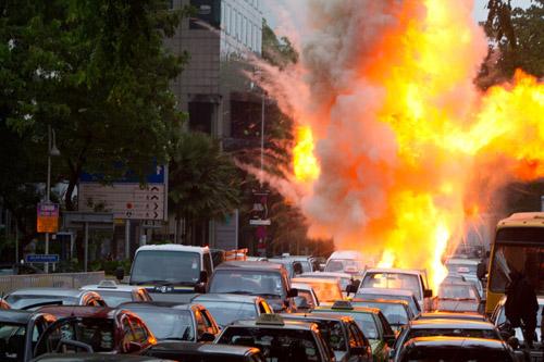 《逆战》火爆撞车场面