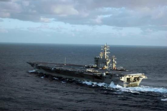 """资料图:美军""""艾森豪威尔""""号航空母舰.图片"""