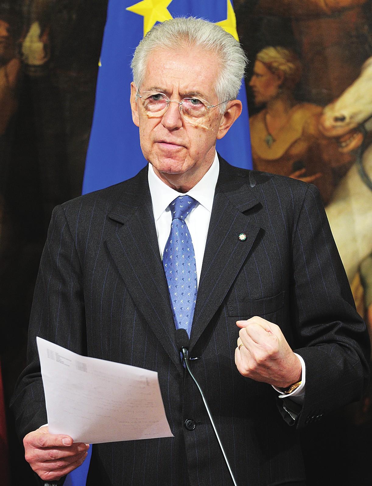 蒙蒂完成意大利过渡政府最后组建工作(图)