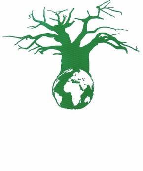 德班气候大会会标:长在地球上的一棵猴面包树。