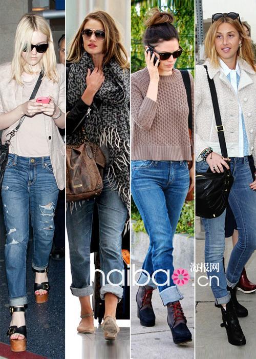 牛仔裤爱好者看过来 卷边Jeans怎么穿?合乎身