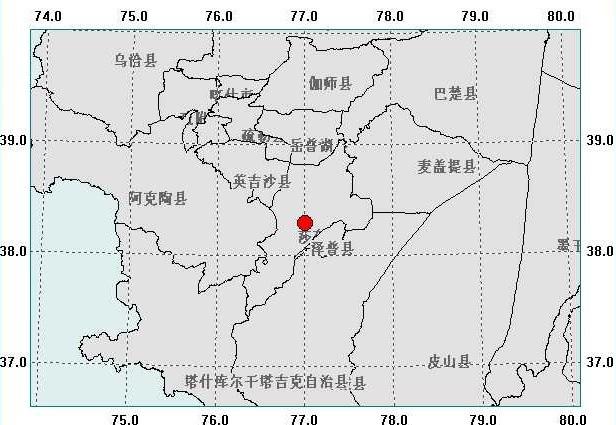 新疆莎车县12月1日晚发生5.2级地震(组图)图片
