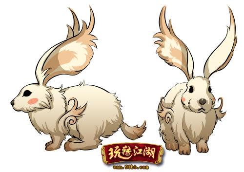 手绘抓兔子耳朵