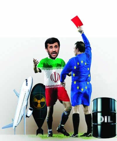 """月1日,欧盟决定对伊朗143个""""实体""""(含公司或组织)及37名自然人实施制裁,其中25个实体与伊朗核项目有关联,120个实体与伊朗航运公司有联系。"""