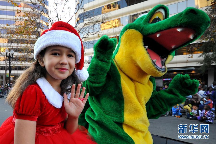 美加州奥克兰市举行儿童节日游行组图 搜狐滚