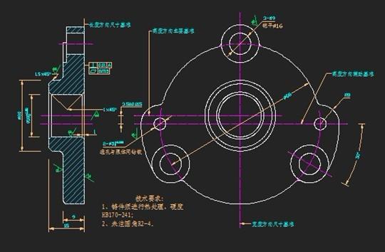 浩辰CAD古董井盖之泵机械绘制架教程cad图片