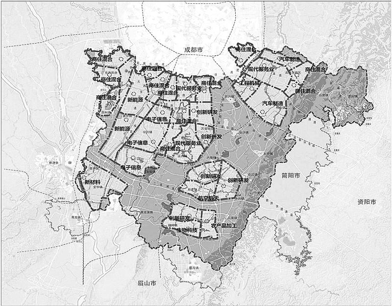 """率先提出""""产城一体单元""""天府新区建设提速(图)图片"""