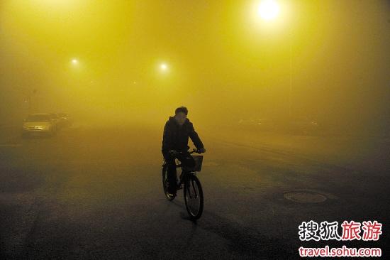 北京:过多的机动车排放物