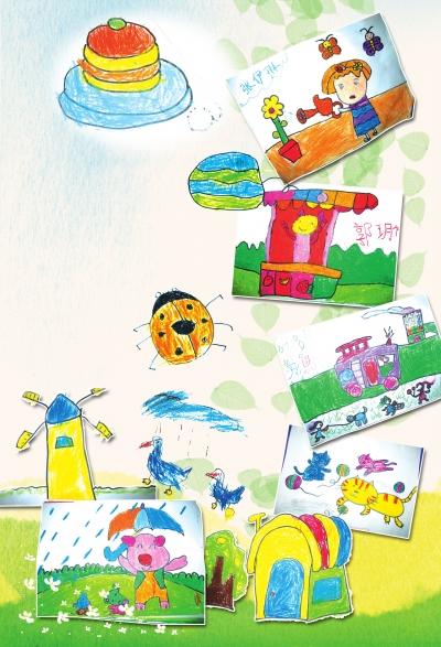 幼儿园彩虹简单画画