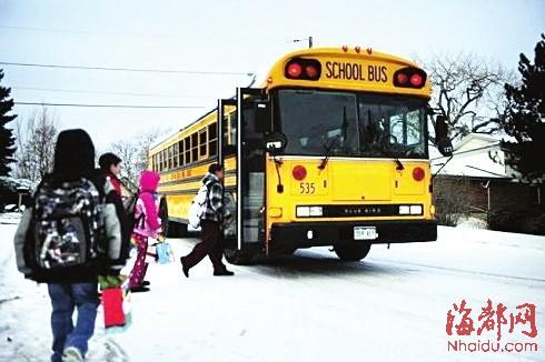 在美国,成为一个校车司机非常困难.图片
