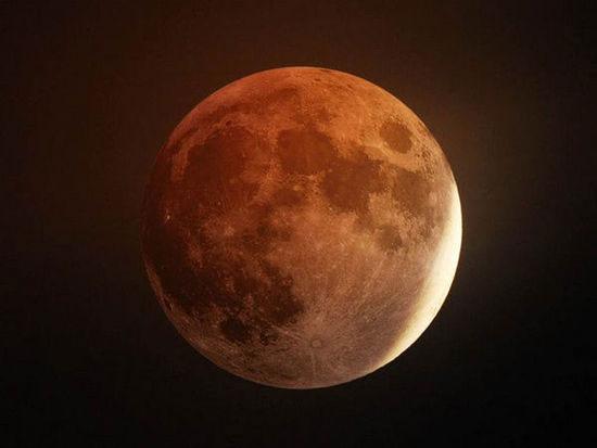 月全食示意图