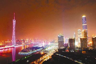 广州城市夜景. 严 亮摄
