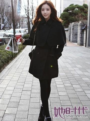 黑色打底裤女生黑色小脚裤搭配打底裤美女黑色打底裤 竖