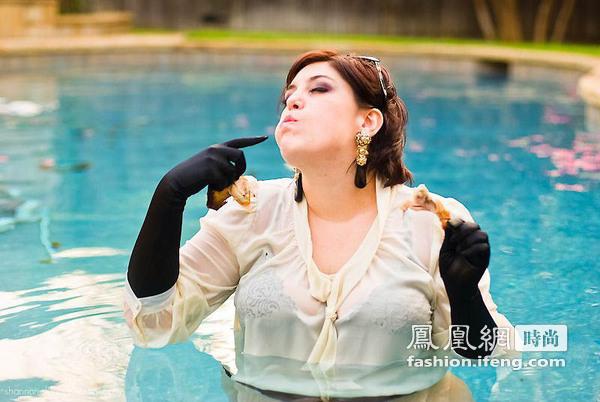 丰满胖女人有时不会因为自己浑身赘肉的身材而自卑