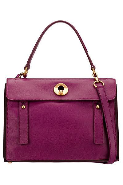 ysl新款紫色全皮女包