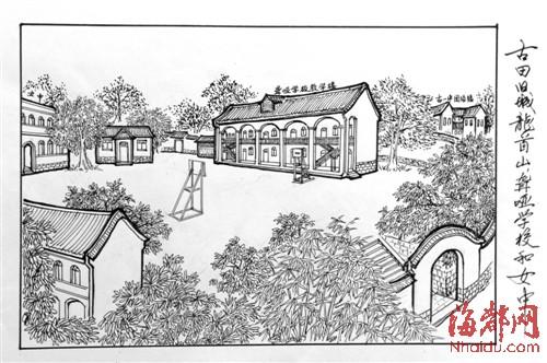 手绘里的古城记忆(组图)图片