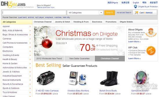 圣诞季结束 B2B在线外贸增幅明显