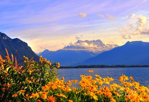 阿爾卑斯山風景如畫