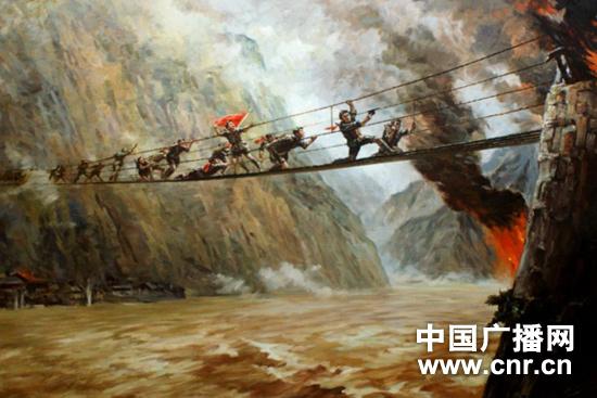 作品《飞夺泸定桥》(资料图片)
