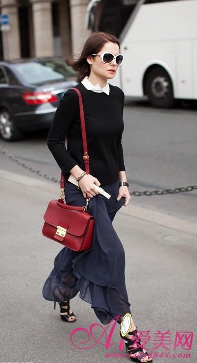 12月最新欧美街拍:5度低温照穿长裙(组图)