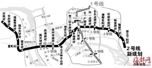福州地铁规划图