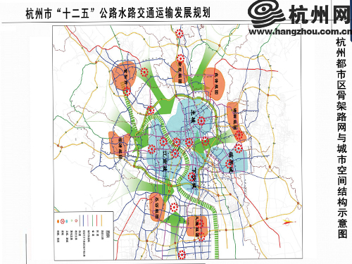 性爱城市图片-图片网_杭州都市区骨架路网与城市空间结构示意图