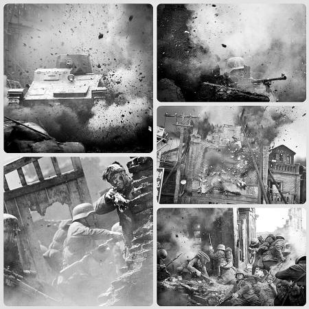 片中的战争场面。
