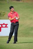图文:中国-亚太队际对抗赛决赛轮 张新军挥杆