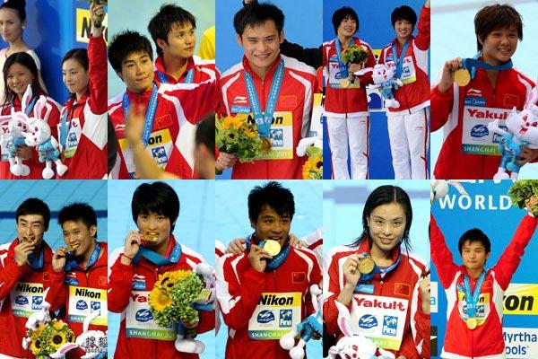 上海世锦赛包揽十金英雄