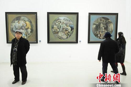 画家刘美玲探寻方圆组合 召唤对传统文化的怀念(组图)