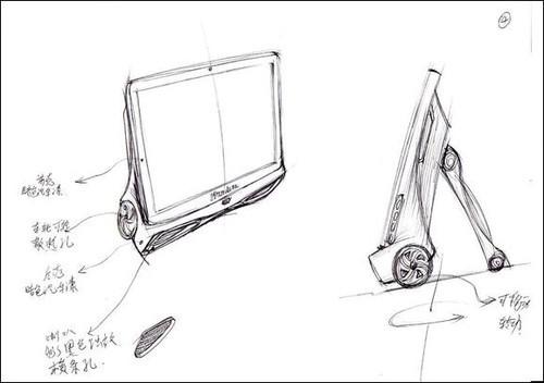 跑车系列最初的设计手稿图片
