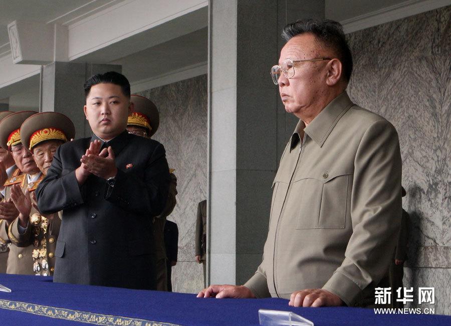 2011年9月9日,朝鲜最高领导人金正日出席在平壤金日成体育场举行的庆祝建国63周年工农赤卫队阅兵式。