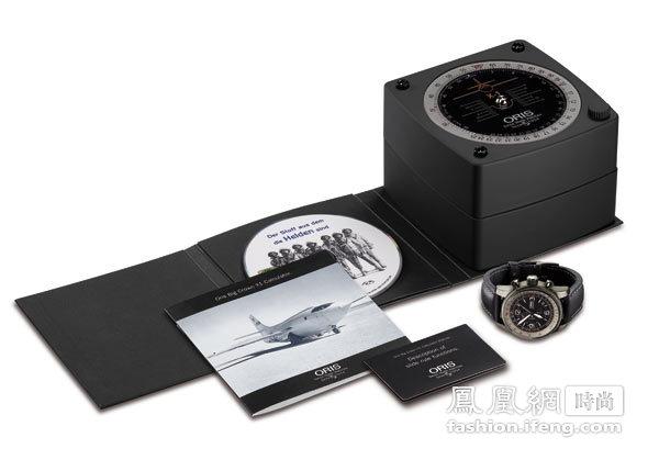 Oris大表冠X1专业飞行表采用了计时表机芯和计算尺功能