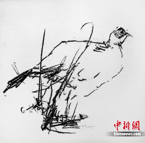 叶永青《画鸟》图片