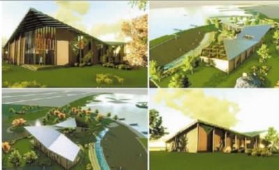 环梅溪湖景观小品建筑.