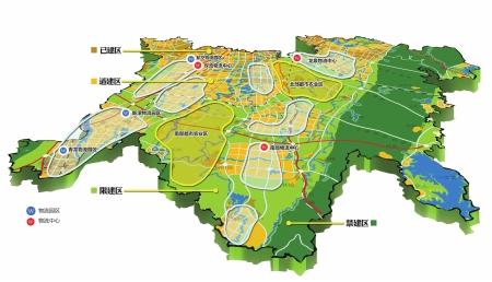 天府新区总体规划·产业用地布局·空间管制规划图 制图/姜宣凭图片