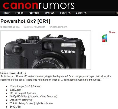 此前canonrumors网站相关信息截屏