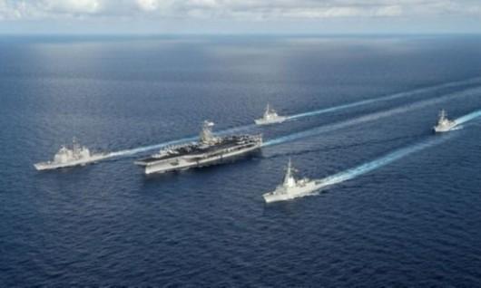 资料图:美国海军航母编队.