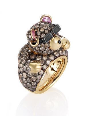 Grisogono小熊造型戒指