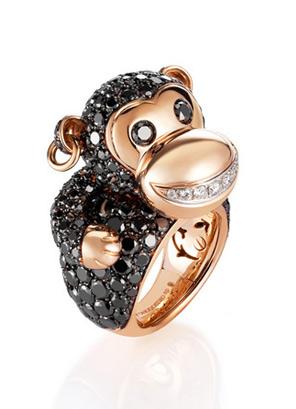 Grisogono猴子造型戒指
